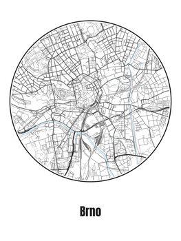 Harta orașului Brno