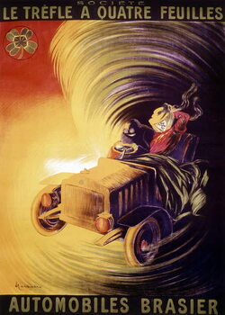 Advertisement by Leonetto Cappiello for the Brasier cars in France around 1900 Reproducere