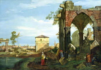 Capriccio with Motifs from Padua, c.1756 (oil on canvas) Reproducere
