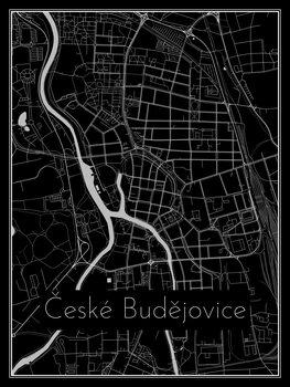 Harta orașului České Budějovice