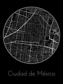 Harta orașului Ciudad de México