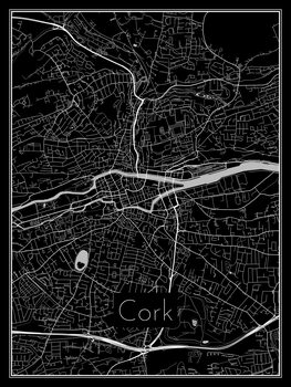 Harta orașului Cork