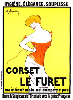 Corset print ad by Leonetto Cappiello around 1901 Reproducere