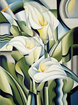 Cubist Lilies Reproducere