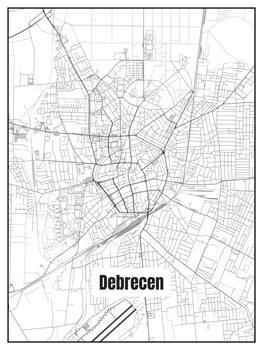 Harta orașului Debrecen