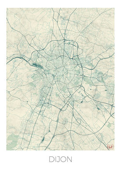 Harta orașului Dijon
