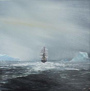 Discovery en route to Antarctica, 2014, Reproducere