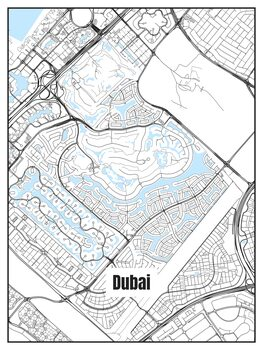 Harta orașului Dubai