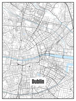 Harta orașului Dublin