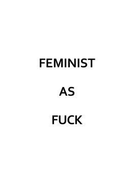 Ilustrare Feminist as fuck