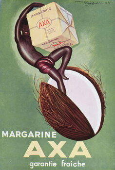 Advertisement for 'Axa' margarine from 'L'Art Menager' magazine 1933 Reproducere
