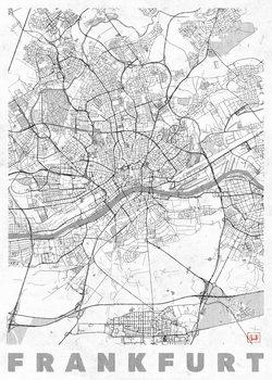 Harta orașului Frankfurt