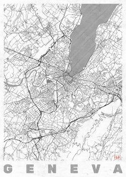 Harta orașului Geneva