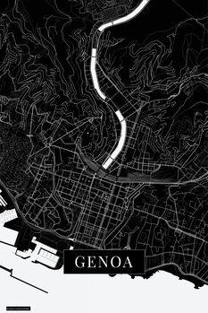 Harta orașului Genoa black