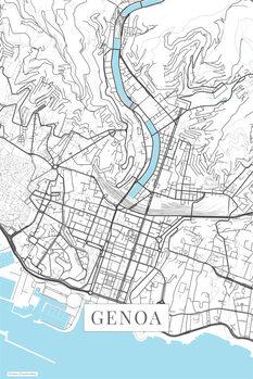 Harta orașului Genoa white