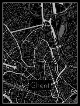 Harta orașului Ghent