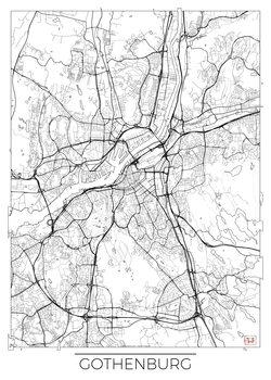 Harta orașului Gothenburg
