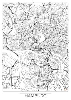 Harta orașului Hamburg