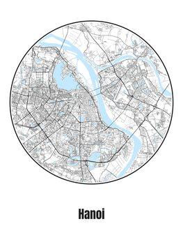 Harta orașului Hanoi