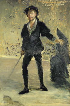 Jean Baptiste Faure (1840-1914) in the Opera 'Hamlet' by Ambroise Thomas (1811-86) (Study), 1877 Reproducere