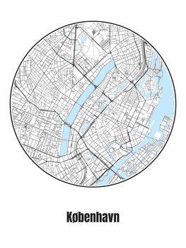Harta orașului København
