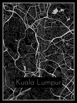 Harta orașului Kuala Lumpur