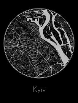 Harta orașului Kyiv