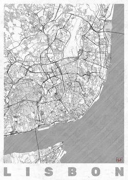 Harta orașului Lisbon