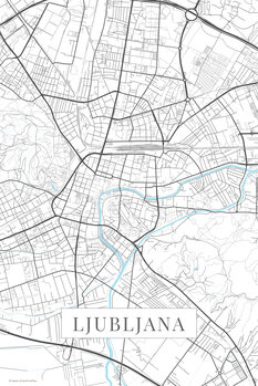 Harta orașului Ljubljana white