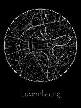 Harta orașului Luxembourg