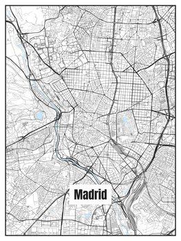 Harta orașului Madrid