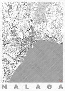 Harta orașului Malaga