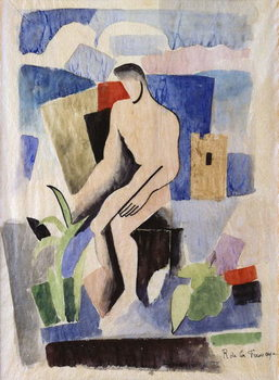 Man in the Country, study for Paludes; Homme dans un Paysage, Etude pour Paludes, c.1920 Reproducere