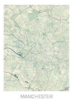 Harta orașului Manchester
