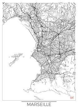 Harta orașului Marseille