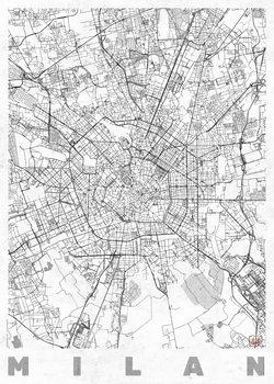 Harta orașului Milan