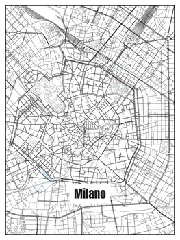 Harta orașului Milano