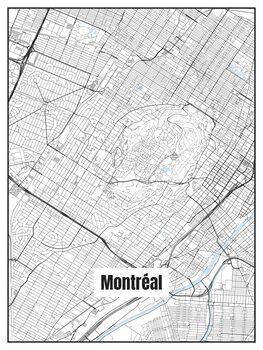 Harta orașului Montréal