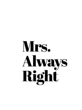 Ilustrare Mrs always right