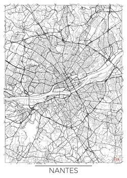 Harta orașului Nantes