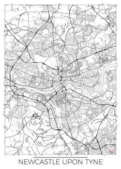 Harta orașului Newcastle Upon Tyne