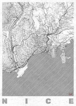 Harta orașului Nice