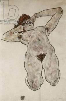 Nude Lying Down; Liegende Nackte, 1917 Reproducere