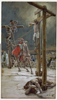 One of the Soldiers with a Spear Pierced His Side, illustration for 'The Life of Christ', c.1886-94 Reproducere