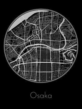 Harta orașului Osaka