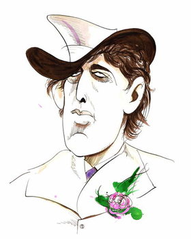 Oscar Wilde - caricature of Irish writer Reproducere