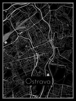Harta orașului Ostrava