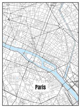 Harta orașului Paris