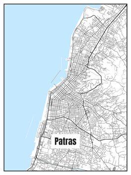 Harta orașului Patras