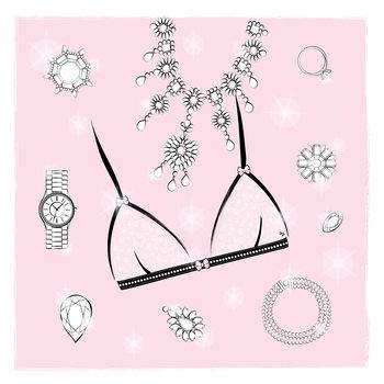 Ilustrare Pink Bra